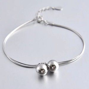 Jewelry - NEW 925 Sterling Silver Double Bell Bracelet